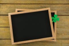 St Patricks Day shamrock on the slate Royalty Free Stock Photos
