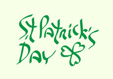 St Patricks Day with shamrock symbol traditional holiday green t Royalty Free Stock Photography