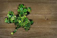 St Patricks Day shamrock on wood Royalty Free Stock Photos