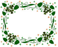 St Patricks Day Shamrocks border Royalty Free Stock Photos