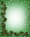 St Patricks Day Shamrocks Border stock photo