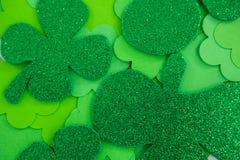 St Patricks Day shamrocks. St Patricks Day full frame of shamrocks Royalty Free Stock Photo