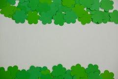 St Patricks Day shamrocks. On white background Royalty Free Stock Images