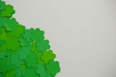 St Patricks Day shamrocks. On white background Stock Images