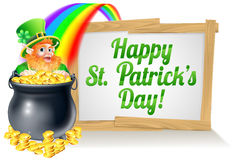 St patricks day sign 2015 B1 Royalty Free Stock Image