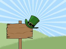 St patricks day sign post Royalty Free Stock Photo