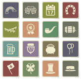 St Patricks day simply icons Royalty Free Stock Photo