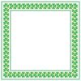 St Patricks Day square frame with shamrock on white background vector illustration