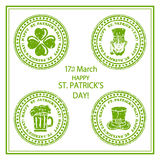 St. Patricks Day stamp Royalty Free Stock Photos