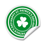 St Patricks day sticker Royalty Free Stock Image