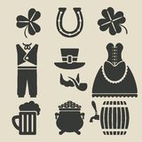 St. Patricks Day symbols set Royalty Free Stock Image