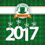 St. Patricks Day Tartan 2017 Stock Photos
