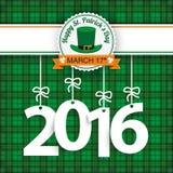 St. Patricks Day Tartan 2016 Stock Image