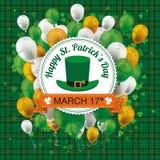 St Patricks Day Tartan Emblem Balloons Cloverleafs Royalty Free Stock Photography