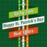 St Patricks Day Tartan Sale Ribbon Royalty Free Stock Photography