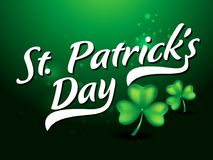 St patricks day text background with clove Stock Photo