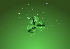 St. Patrick�s Day Three Leafed Clover Background Stock Photos