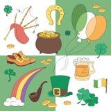 St. Patricks Day vector design elements set Stock Photo
