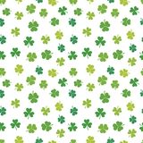 St. Patricks day vector shamrocks seamless pattern. St. Patricks day vector seamless pattern made from green shamrocks Stock Images