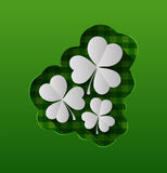 St patricks day vector with shamrocks Royalty Free Stock Photos