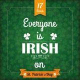 St Patricks Day Vintage Cover Everyone Irish Stock Photos