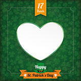 St Patricks Day Vintage Cover Heart Stock Image
