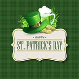 St. Patricks Day vintage holiday badge design. Vector illustration Royalty Free Stock Images