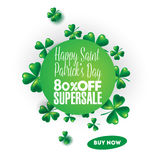 St. Patricks Day vintage holiday badge design. Royalty Free Stock Photography