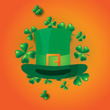 St. Patricks Day vintage holiday badge design. Royalty Free Stock Image