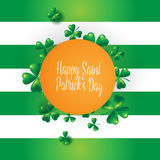 St. Patricks Day vintage holiday badge design. Stock Photos