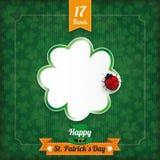 St Patricks Day Vintage Shamrock Ladybird Stock Photos
