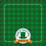 St. Patricks Day Vintage Tartan Cover Stock Image