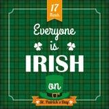 St. Patricks Day Vintage Tartan Cover Kiss Me Royalty Free Stock Photo