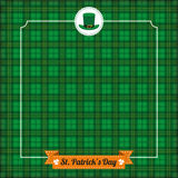 St. Patricks Day Vintage Tartan Cover Ribbon Royalty Free Stock Photography
