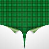 St. Patricks Day Vintage Tartan Cover 2 Scrolled Corners Stock Photo