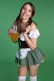 St Patricks Day Woman. Happy st patricks day woman Royalty Free Stock Photos