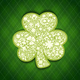 St Patricks Days card of white objects on irish pa Stock Photography