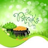 St. Patricks de Achtergrond van de Dag Stock Foto