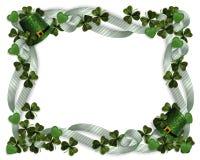 St Patricks de hoedenklavers van de Grens van de Dag Stock Afbeeldingen