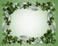 St Patricks de hoedenklavers van de Grens van de Dag Stock Afbeelding