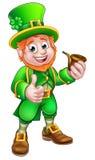 St Patricks de Kabouter van de Dagpijp Royalty-vrije Stock Fotografie