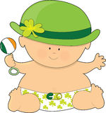 St. Patricks del bebé ilustración del vector