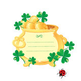 St. Patricks design - frame is made  Stock Images