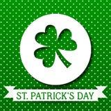St Patricks dnia kartka z pozdrowieniami Wektorowy tło Irlandzki kulturalny i religijny świętowanie na 17 Marzec Liściasty royalty ilustracja