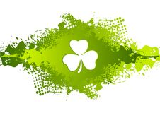 St Patricks dnia koniczyna na zielonym grunge kleksa tle Zdjęcia Royalty Free