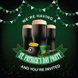 St Patricks dnia przyjęcia zaproszenia projekt Obraz Stock