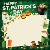 St Patricks dnia rocznika wakacje rama dla teksta projekta również zwrócić corel ilustracji wektora Fotografia Royalty Free