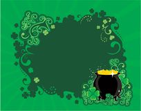 St. Patricks frame Stock Image