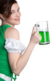 St Patricks Girl Stock Photography