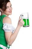 St Patricks Girl. Pretty st patricks beer girl Stock Photography